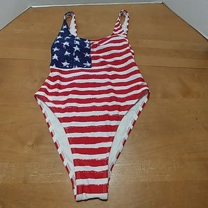 Xhilaration one piece women's USA flag swimsuit